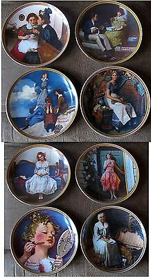 $ CDN242.42 • Buy Norman Rockwell Rediscovered Women Series Collection (8) Knowles Plates, COA