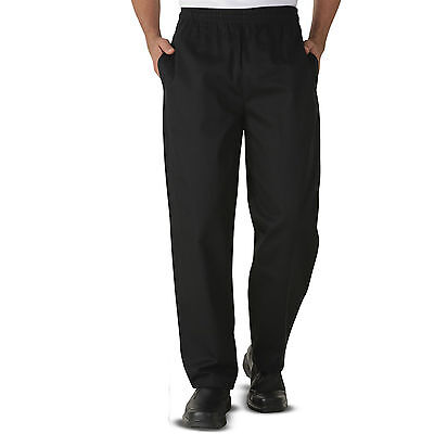 £9.99 • Buy Chef Trousers Pants Excellent Quality Black Trousers 3 Pockets For UNISEX