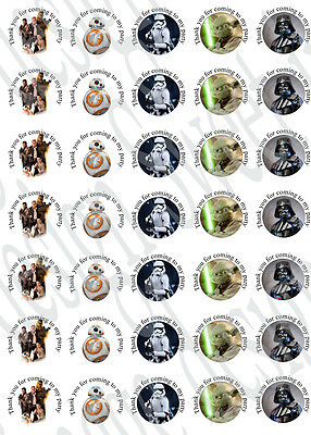£1.05 • Buy Star Wars Inspired Labels Party Bag Sweet Cones Seals Box Labels Stickers