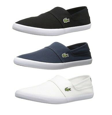 4d2745a0b Lacoste Marice BL2 Men s Casual Canvas Loafer Shoes Sneakers Black Blue  White • 59.08