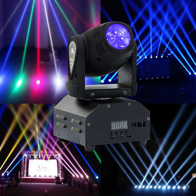 Mini 60W RGB LED GOBO Stage Light DMX Moving Head Spotlight Beam Disco DJ Party • 50.69£