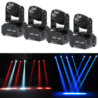 4x 4in1 RGBW Stage Lighting Effect Disco DJ LED Moving Head DMX Spot Party Light • 195.99£