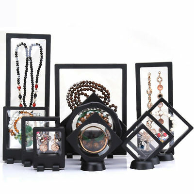 3D Floating Frame, Shadow Box, Jewellery Display Empty Coin Frame Acrylic Box • 2.99£