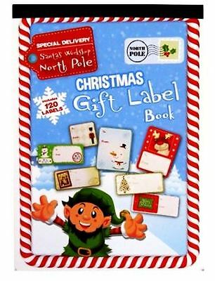 120 Christmas Sticker Peel Stick Gift Tags Label Xmas Party Present Tie Wrapping • 1.99£