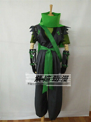 $ CDN131.60 • Buy Sparrow Young Genji Green Cosplay Costume Full Sets Custom Made Free Shipping