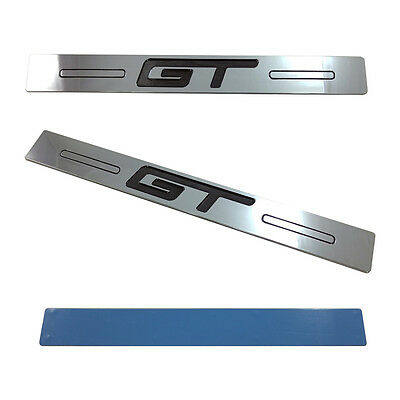 $39.99 • Buy Mustang GT Logo Door Sill Show Quality Black N Chrome Finish Sills (2pc) 05-14
