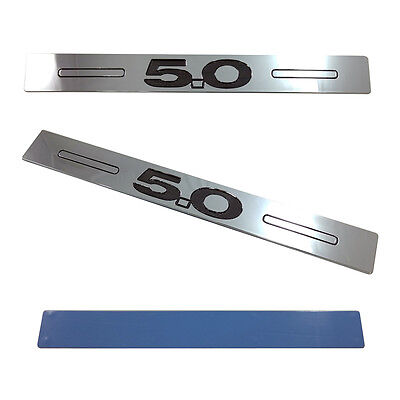 $39.99 • Buy (2pc) 05-14 Mustang 5.0 Logo Door Sill Show Quality Chrome Finish Sills