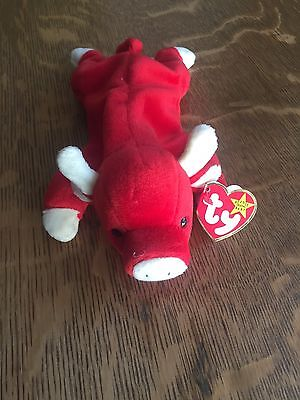 $500 • Buy 1995 Ty Beanie Baby SNORT The Red Bull RETIRED - USA SELLER