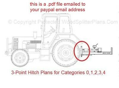 $3.99 • Buy 3-Point Hitch Plans For Categories 0,1,2,3 And 4. Tractor Implement Attachment