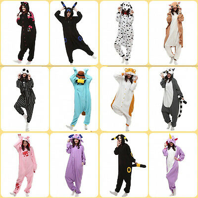 AU22.50 • Buy New Design Kigurumi Unisex Fleece Animal Costume Pajamas Cosplay Playsuit One