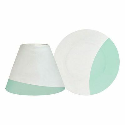 Yankee Candle Sandblast Aqua Design Large Shade And Tray Plate Holder Set • 13.49£