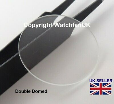£7 • Buy Watch Glass Mineral Crystal - Domed Round - 1mm Thick Range 18mm To 50mm