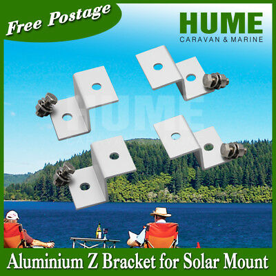AU15 • Buy Z Bracket Mount  For Solar Panel 4 For 1set(this Is One Set) RV Caravan
