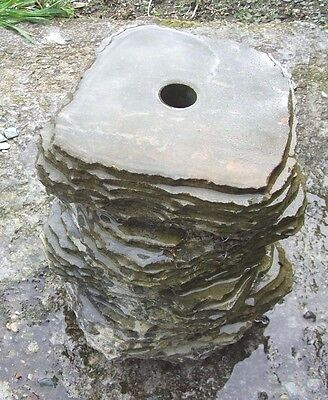 £45 • Buy  Stone Column  Offset  Water Feature Polished Top Drilled For Pipe Work 27 Mm