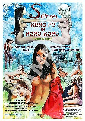£10.99 • Buy Sexual Kung Fu :  Vintage Adult B Movie Advertising Poster Reproduction.