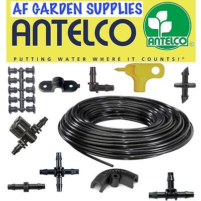 4mm Fittings Micro Irrigation Barbed Connectors Garden Watering Pipe Antelco • 5£