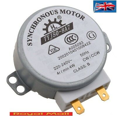 Microwave Oven Turntable Synchronous Motor 4W AC 220-240V 4 RPM #H126 • 7.89£
