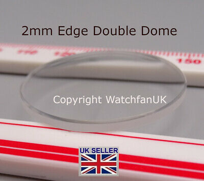 £9.50 • Buy Watch Glass Mineral Crystal - Domed Round - 2mm Thick Range 18mm To 50mm
