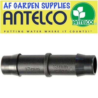 13mm Straight Fitting/Connector Antelco Garden Irrigation Watering For LDPE Pipe • 2.85£