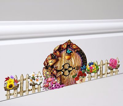 Fairy Door And Fence Wall Skirting Board Sticker Decal  • 3.49£