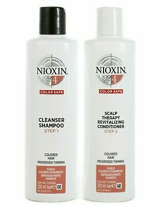AU57.95 • Buy Nioxin System 4 Cleanser Shampoo And Scalp Revitaliser Conditioner 300ml Duo