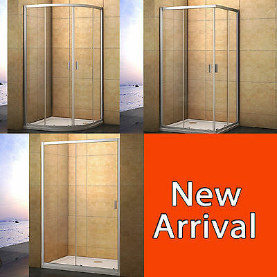 Aica Quadrant/Corner Entry Shower Enclosure Walk In Glass Door Screen Cubicle • 111.99£