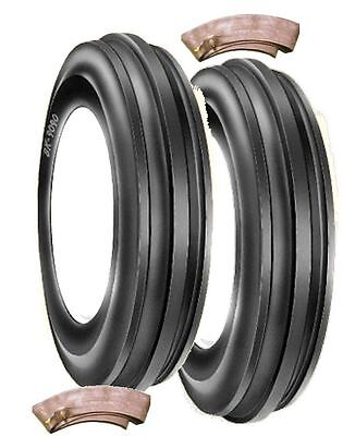 Tractor Front Tyre's 600 X 19 3Rib  BKT  Pair With Tubes  • 165£