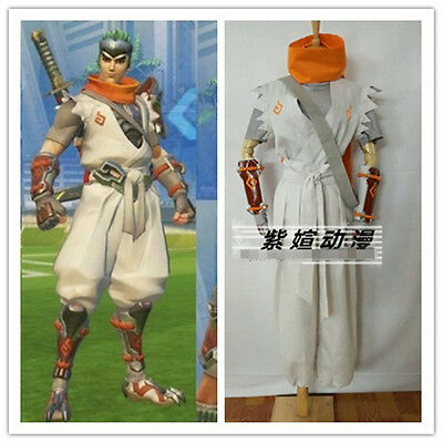 $ CDN131.60 • Buy Sparrow Young Genji White Cosplay Costume Full Sets Custom Made Free Shipping