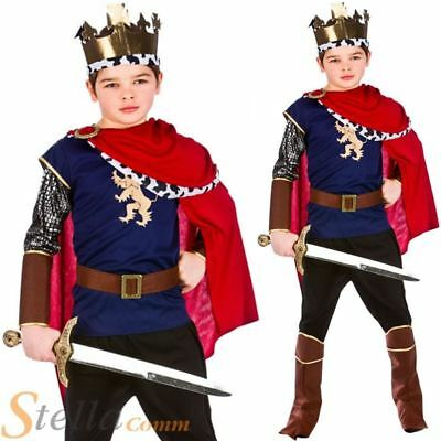 £13.49 • Buy Boys Deluxe Medieval King Costume Arthur Knight Child Fancy Dress Outfit