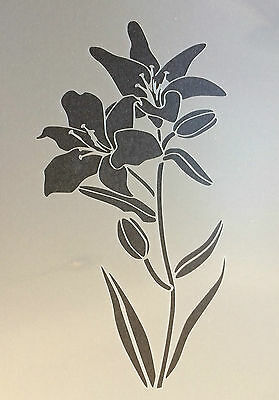 £3.99 • Buy Lily Flower Plant Floral A4 Mylar Reusable Stencil Airbrush Painting Art Craft