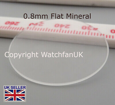 £3.50 • Buy Watch Glass Mineral Crystal - Flat Round - 0.8mm Thick Range 17.1 Mm To 40mm