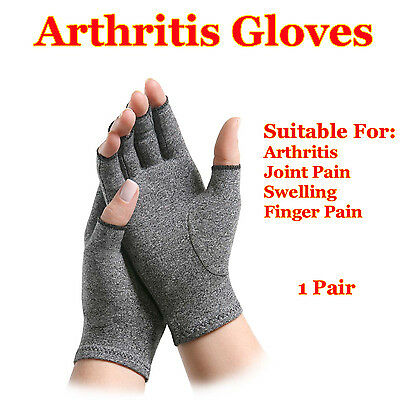 AU11.99 • Buy Arthritis Hand Compression Gloves Fingerless Typing Mittens Carpal Tunnel Brace