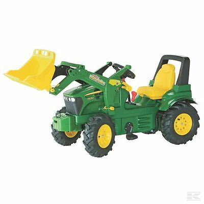 £345.94 • Buy John Deere Childrens Pedal 7930 Premium Tractor With Loader Kids RideOn Farm Toy