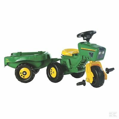 £73.94 • Buy RollyKid John Deere Childrens Pedal 2400 Tractor With Trailer Kids Farm Toy