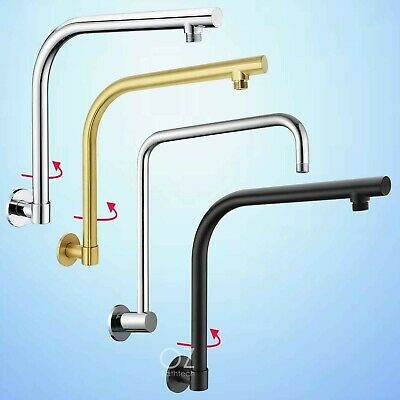 AU60.38 • Buy Bathroom Brass Square/Round Wall Gooseneck Swivel Shower Arm For Head Spout