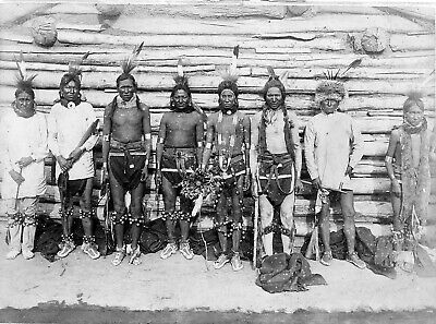 £3.99 • Buy Native American Indian Portrait Sioux Indian War Party Photo Art Print Picture