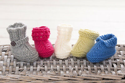 Easy Baby Booties Boots Shoes Gift Ugg Knitting Pattern Free Penguin Pattern • 3.99£