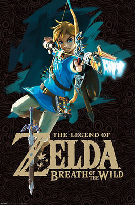 $13.99 • Buy LEGEND OF ZELDA BREATH OF THE WILD BOW 24x36 POSTER NINTENDO CLASSIC ICON COOL!!