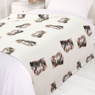 Kitten Duvet Cover With Pillow Case Bedding Set Blanket Throw Cushion Cat Gift • 14.99£