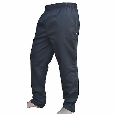 £9.99 • Buy Cotton Chef Trousers Catering Work Wear Kitchen Black 100% Cotton Chef Trousers