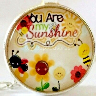 AU7.95 • Buy New You Are My Sunshine Necklace Bee Ladybird Flowers Pendant - Silver Bf