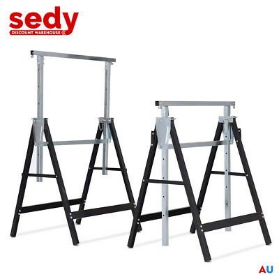 AU93.99 • Buy 2-Piece Telescopic Trestle Saw Horse Foldable Steel Work Stand Workbench Support