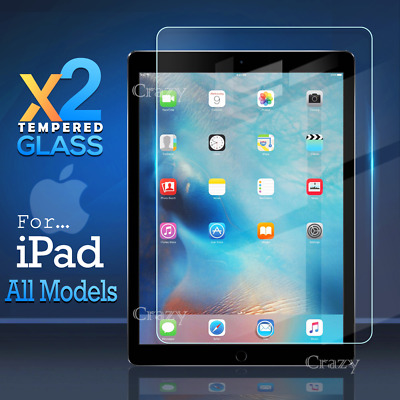 AU9.95 • Buy 2X Tempered Glass Screen Protector For Apple IPad 4 Air 1 2 Mini 5th 6th 7th Gen