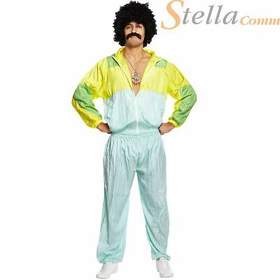 Men's Shell Suit 80's Scouser Tracksuit Fancy Dress Costumes Stag Do Outfit • 17.95£