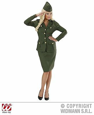 Ladies WW2 Soldier Girl Costume Army Uniform World War 1940s 40s Fancy Dress • 25.99£