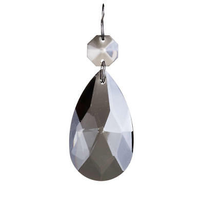 £7 • Buy Spare Part Replacement Chandelier Crystal Effect Droplet 7 Cm Pendant Grey