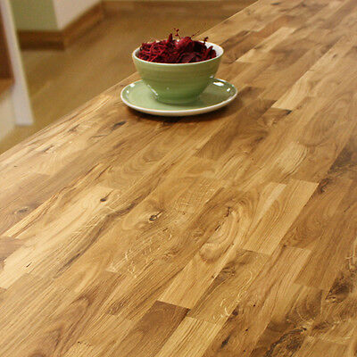Solid Oak Timber Worktops - Wood Worktop, Rustic Farmhouse Kitchen, 40mm Thick • 24.99£