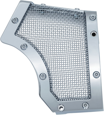 Kuryakyn Chrome Mesh Cage Front Drive Pulley Cover Bobber Harley Sportster 04-17 • 117$