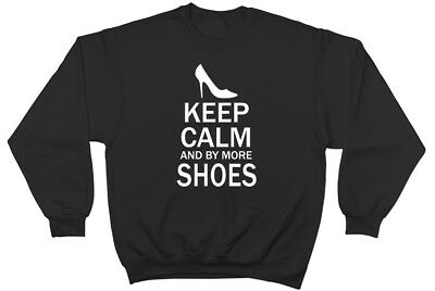 Keep Calm And Buy More Shoes Womens Ladies Jumper Sweater Sweatshirt • 17.99£