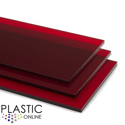 £0.99 • Buy Red Tint Perspex Acrylic Sheet Colour Plastic Panel Material Cut To Size
